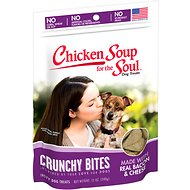 Chicken Soup for the Soul Crunchy Bites Bacon & Cheese Dog Treats, 12-oz bag