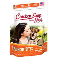Chicken Soup for the Soul Crunchy Bites Peanut Butter Dog Treats, 12-oz bag