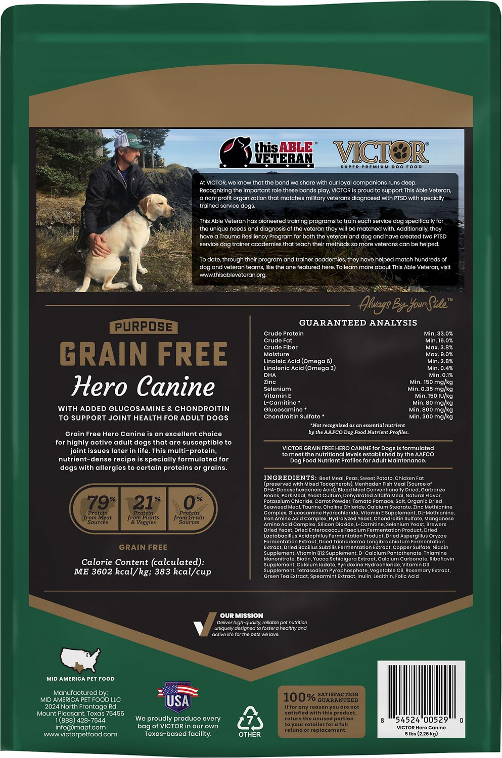 Victor Hero Grain Free Dog Food