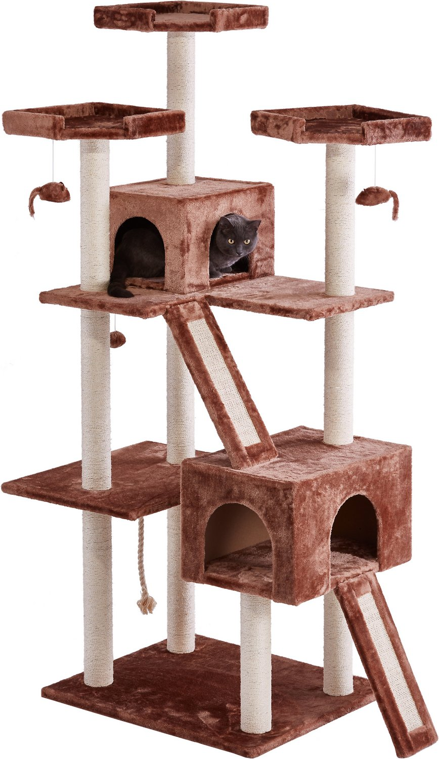 Frisco 72-Inch Cat Tree, Large, Brown - Chewy.com