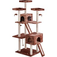 Frisco 72-in Cat Tree, Large Base, Brown