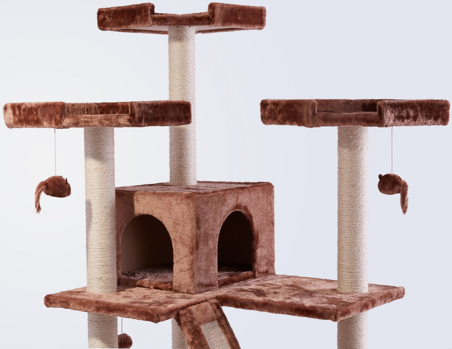 Frisco 72-in Cat Tree, Large Base, Brown picture
