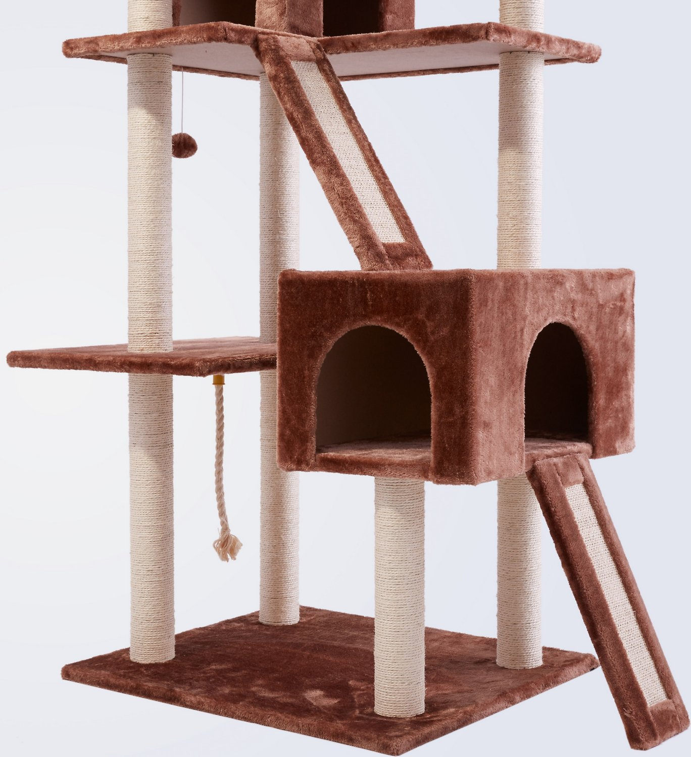 Frisco 72-in Cat Tree, Large Base, Brown Frisco 72-in Cat Tree, Large Base, Brown new foto