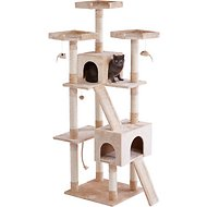 Frisco 72-in Cat Tree, Cream Trees, Towers, Condos \u0026 Scratchers - Free Shipping | Chewy.com