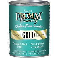 Fromm Gold Duck & Chicken Pate Grain-Free Canned Dog Food, 12-oz, case of 12
