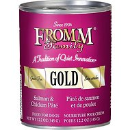 Fromm Gold Salmon & Chicken Pate Grain-Free Canned Dog Food, 12-oz, case of 12