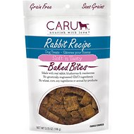 Caru Soft 'n Tasty Baked Bites Rabbit Recipe Grain-Free Dog Treats, 4-oz bag