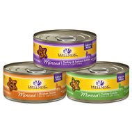 Wellness Minced Poultry Pleasers Variety Pack Grain-Free Canned Cat Food, 5.5-oz, case of 30