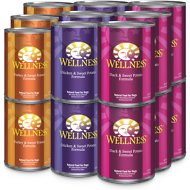 Wellness Complete Health Poultry Lovers Variety Pack Canned Dog Food, 12.5-oz, case of 18