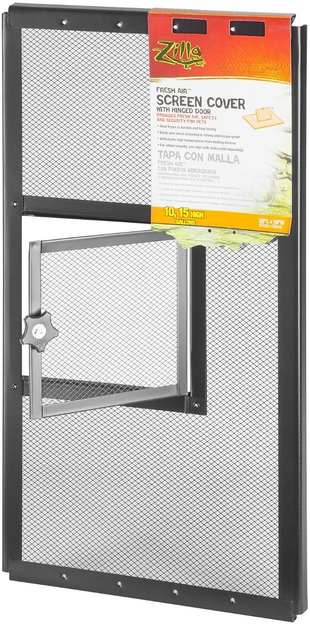 Zilla Fresh Air Screen Cover With Hinged Door For
