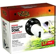 Zilla Premium Reflector Light & Heat Black Ceramic Dome Lighting Fixture, 5.5-inch