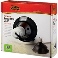Zilla Premium Reflector Light & Heat Black Ceramic Dome Lighting Fixture, 8.5-in