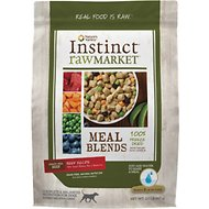 Instinct by Nature's Variety Raw Market Grain-Free Beef Recipe Meal Blends Freeze-Dried Dog Food, 2-lb bag