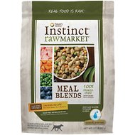 Instinct by Nature's Variety Raw Market Grain-Free Chicken Recipe Meal Blends Freeze-Dried Dog Food, 2-lb bag