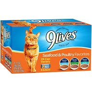 9 Lives Seafood & Poultry Favorites Variety Pack Canned Cat Food, 5.5-oz, case of 24