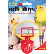 JW Pet Activitoy Birdie Basketball Toy, Small/Medium