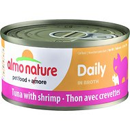 Almo Nature Daily Tuna with Shrimp in Broth Grain-Free Canned Cat Food, 2.47-oz, case of 24
