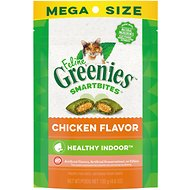 Greenies Feline SmartBites Hairball Control Chicken Flavor Cat Treats, 4.6-oz bag