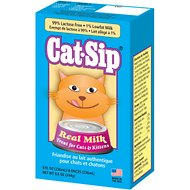 PetAg CatSip Real Milk Liquid Cat & Kittens Treat, 8-oz carton