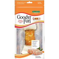 Good 'n' Fun Triple Flavor Beef, Pork & Chicken Dog Chews, 8-inch