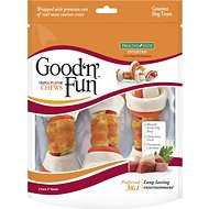 Good 'n' Fun Triple Flavor Beef, Pork & Chicken Dog Chews 3 Count, 4-inch