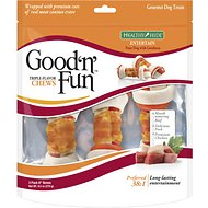 Good 'n' Fun Triple Flavor Beef, Pork & Chicken Dog Chews 3 Count, 6-in