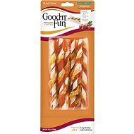 Good 'n' Fun Triple Flavor Chews Beef, Pork & Chicken Twists Dog Chews, 4-inch, 10 count