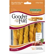Good 'n' Fun Stuffed Liver Twists with Chicken, Liver & Pork Dog Chews, 6 count