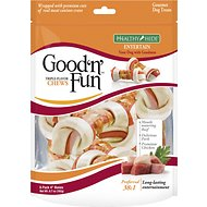 Good 'n' Fun Triple Flavor Chews Beef, Pork & Chicken Dog Chews, Small, 6 count