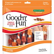 Good 'n' Fun Triple Flavor Kabobs Chicken, Duck &  Chicken Liver Dog Chews, 18 count