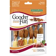 Good 'n' Fun Triple Flavor Kabobs Chicken, Duck & Liver Dog Chews, 4-oz bag