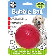 Pet Qwerks Animal Babble Ball Dog Toy, Color Varies, Large