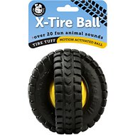 Pet Qwerks Animal Sound X-Tire Ball Dog Toy, 5-inch