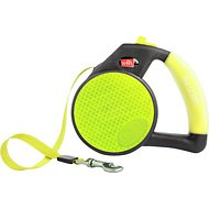 Wigzi Reflective Retractable Gel Leash, Yellow, Large