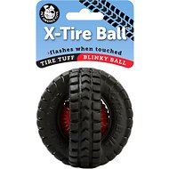 Pet Qwerks Blinky X-Tire Ball Toy, 3.5-inch