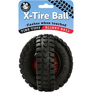 Pet Qwerks Blinky X-Tire Ball Toy, 5-inch