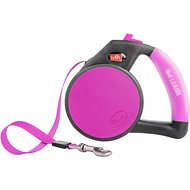 Wigzi Retractable Gel Leash, Pink, Small