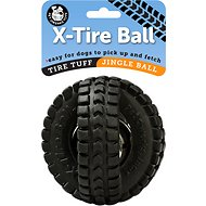 Pet Qwerks Jingle X-Tire Ball Dog Toy, 5-inch