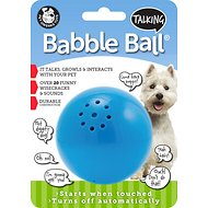 Pet Qwerks Talking Babble Ball Dog Toy, Medium