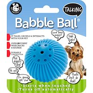 Pet Qwerks Talking Babble Ball Dog Toy, Small