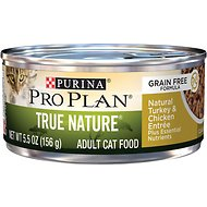 Purina Pro Plan Classic Adult True Nature Grain-Free Natural Chicken & Turkey Entree Canned Cat Food, 5.5-oz, case of 24