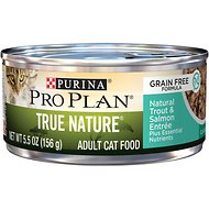 Purina Pro Plan Classic Adult True Nature Grain-Free Natural Trout & Salmon Entree Canned Cat Food, 5.5-oz, case of 24