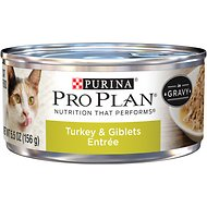 Purina Pro Plan Adult Turkey & Giblets Entree in Gravy Canned Cat Food, 5.5-oz, case of 24