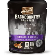 Merrick Backcountry Grain-Free Morsels in Gravy Real Rabbit Recipe Cuts Cat Food Pouches, 3-oz, case of 24