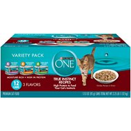 Purina ONE Variety Pack Canned Cat Food, 3-oz, case of 12