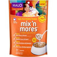 Halo Mix'n Mores Freeze-Dried Cage-Free Chicken Cat Food Topper, 6-oz bag