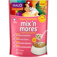 Halo Mix'n Mores Freeze-Dried Salmon & Turkey Cat Food Topper, 6-oz bag