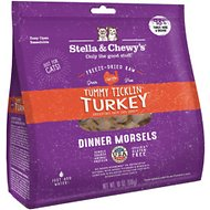 Stella & Chewy's Tummy Ticklin' Turkey Dinner Morsels Grain-Free Freeze-Dried Cat Food, 18-oz bag