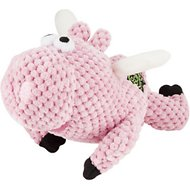 GoDog Checkers Chew Guard Flying Pig Dog Toy, Small