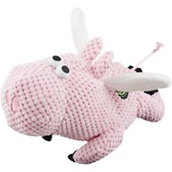 GoDog Checkers Chew Guard Flying Pig Dog Toy, Large